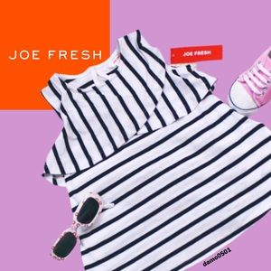 NWT Joe Fresh Baby Ruffle Sleeveless Stripe Dress